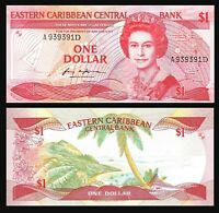 1988 Eastern Caribbean States Bank of One Dollar Note CU **FREE U.S SHIPPING**