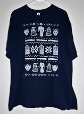 Dr. Who - Ugly Christmas Sweater t-shirt (Dalek Cybermen) by Tee Fury --2XL