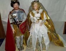 Danbury Mint Queen Guinevere and King Arthur Dolls