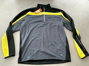Galvin Green DANNY Insula Pullover Large Iron grey / Black / Yellow - Worn once