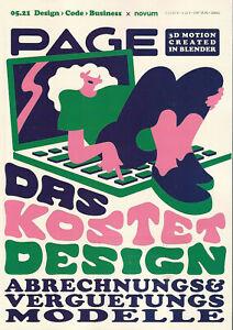 PAGE Mai 5 2021 Web Design Magazin Werbung  Business 3D Motion Kosten novum