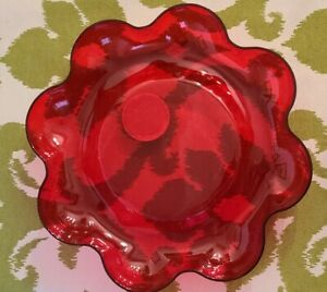 Red Plastic Dish