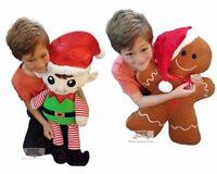 "Huge Giant Massive Extra Large Gingerbread Man Elf Plush Soft Toy 65cm 25"""