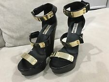 Steve Madden Whitneyy Womens US 7.5 Black Wedge Heel Adorable