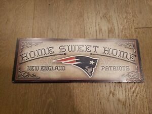 NFL New England Patriots Home Sweet Home wood sign New Indoor 6x17 football