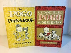 Uncle Pogo So-So Stories Printing + The Pogo Peek A Book 1955 2nd Printing