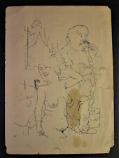 George GROSZ (1893-1959) - BORDELL - Lithographie 1922/23 -  Ecce Homo Blatt 78