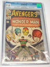 The Avengers #9 CGC Graded 7.0 1st Appearance & Origin of Wonderman Kirby 1964