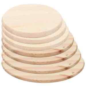vidaXL Kiefernholz Tischplatte Rund 25mm Holz Platte Holzplatte Tisch 30-90cm