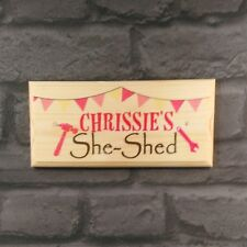Personalised She Shed Plaque / Sign - Mum Nanny Craft Workshop Tools Room Door