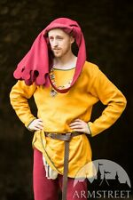 Men's Long Sleeve Tunic in Medieval Style , SIZE M, yellow color