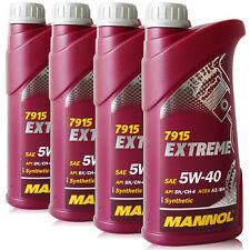 5W-40 Motoröl 4x1L MANNOL Extreme API SN CF ACEA A3 B4 502 00 505 00 VW AUDI