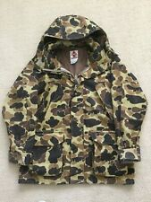 Vtg Columbia Mens Gore-Tex Thinsulate Hooded Duck Hunting Camo Jacket Size L