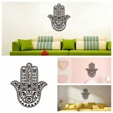New Removable Vinyl Mandala Flower Hamsa Fatima Hand Eye Wall Sticker Decal-