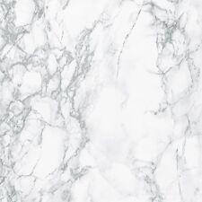 90cm Wide GREY WHITE CARRERA  MARBLE STICKY BACK PLASTIC SELF ADHESIVE VINYL