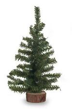 6 inch Green Artificial Canadian Pine Tree with Wood Base Miniature Craft NEW