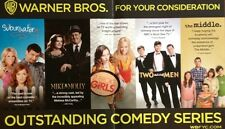 WARNER BROS TV combo Emmy ad 2 BROKE GIRLS, THE MIDDLE, TWO AND A HALF MEN more