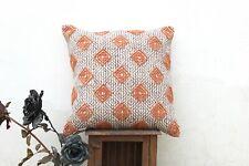 Hand Block Printed Handmade Indian Dhurrie 20 X 20 Cotton Cushion Cover