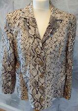 Zucchero Italian Designer Brown/Cream Animal Print Ladies Summer Jacket Size 20