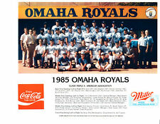 1985 OMAHA ROYALS 8X10 TEAM PHOTO KANSAS CITY BASEBALL CONE