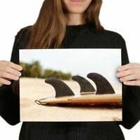 VW BEETLE SURFBOARD SURFING POSTER NEW PH0412 200