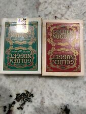 Vintage Golden Nugget Las Vegas - Hotel & Casino Playing Cards Red & Green