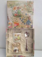 Vintage GRENADIER BOBTAILS Bone China Eggcup, Silver Plated Spoon & Napkin Ring