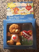 Vintage BRAVE HEART LION Care Bear Cousin Poseable Figure NEW IN BOX RARE MINT