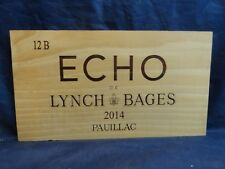 2014 ECHO DE LYNCH BAGES PAUILLAC WOOD WINE PANEL END