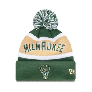 Youths Milwaukee Bucks New Era NBA Team Wordmark Knit Beanie - Green