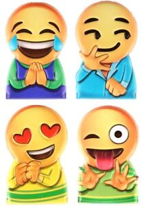 5 x PACK FINGER PUPPETS SMILEY FACE EMOJI STYLE SOFT TOY GREAT PARTY BAG FILLER