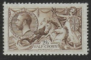 SG415a. 1918 2s6d.Pale Brown. Unused Without Gum-Fine,Fresh Appearance. Ref.1179