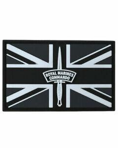 Royal Marines Commando Union Jack Black & White Airsoft Army PVC Patch
