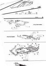 1972 1973 1974 1975 1976 FIAT 128SL SPORT COUPE BODY PARTS LIST CRASH SHEETS ^