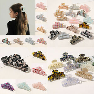 Chic Geometric Acetate Hair Claw Large Square Hair Clip Leopard Hairpin Barrette