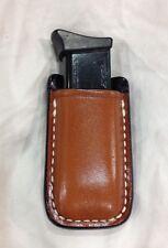 Leather Magazine Case -COLT 1911 Single Stack .45 / M&P SHIELD 9 mm ... (# 1111)