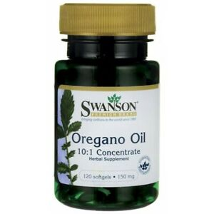 Swanson Oregano Oil 10:1 Extract 120 softgels for digestive health