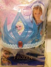 Tiara Elsa Disney Frozen Blue Plastic New