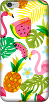 Shockproof Soft Clear Phone Case Bumper Cover  Galaxy S7 Flamingos & Watermelon