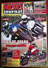MOTO JOURNAL du 4/2010; Yama FZ8/ Kawa Z 750/ Ducati 796 Monster/ Honda VF 750