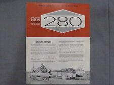 original 1963 Oliver 280 Manure Spreader sales Brochure Catalog Tractor