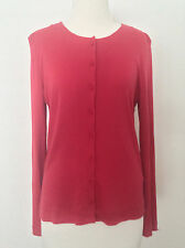 HUGO BOSS LONG SLEEVE BUTTON DOWN TOP Strawberry Pink Cotton Silk Size 12-14 M