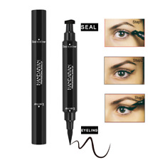 Double Head Liquid Eyeliner Pen Eye Liner Pencil Stamp Black Waterproof Makeup