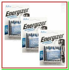 ENERGIZER Lithium AA 12 Pile Batterie Litio stilo ULTIMATE !!!!SCADE 2039!!!!