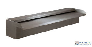 """NAKANO 18"""" WATERFALL SPILLWAY SCUPPER FOR POOL OR FOUNTAIN - 316 STAINLESS"""