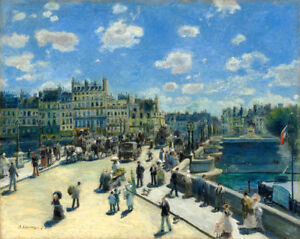 Pont Neuf, Paris by Pierre-Auguste Renoir 60cm x 48cm Art Paper Print