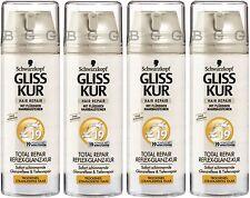 4 x GLISS KUR - Total Repair 19 - Reflex & Gloss Treatment 600 ml SHIPPING FREE