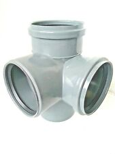 """4"""" 110mm Double Corner Branch 110/110/110/90° 87½° SEWER WASTE VENT Soil Pipe"""