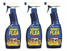 Pack of 3 Household Flea Killing Spray Cat Dog Carpet Soft Furniture Bed 500ML