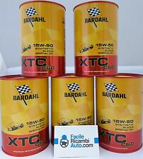 Olio motore per auto Bardahl XTC C60 SAE 15w-50 kit composto da 5pz 324040